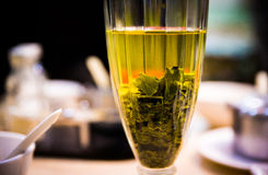Glas with green tea Stock Image