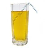 Glas groen geïsoleerd appelsap Stock Foto's