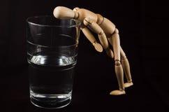 Glas halb leer? #2 Stockfotos