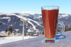 Glas heiße Schokolade Lizenzfreies Stockbild
