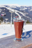Glas heiße Schokolade Lizenzfreie Stockfotos