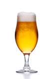 Glas helles frisches Bier mit dem Schaum lokalisiert auf Weiß Stockbild