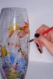 Glas het schilderen Stock Foto's