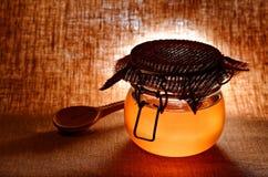 Glas Honig Lizenzfreies Stockbild