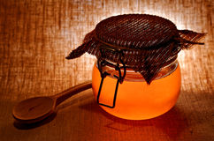 Glas Honig Stockbild