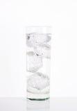 Glas ijs bruisend water Royalty-vrije Stock Afbeelding
