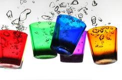 Glas im Wasser Stockfotografie