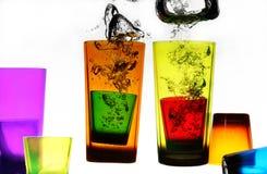 Glas im Wasser Stockfoto