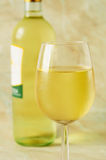 Glas Italiaanse witte wijn Royalty-vrije Stock Foto's