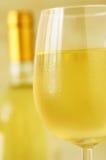 Glas Italiaanse witte wijn stock afbeelding
