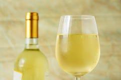 Glas Italiaanse witte wijn Stock Fotografie