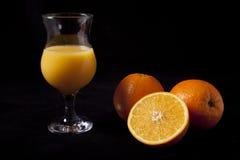 Glas Jus d'orange Royalty-vrije Stock Afbeelding
