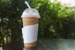 Glas kalter Kaffee lizenzfreie stockbilder