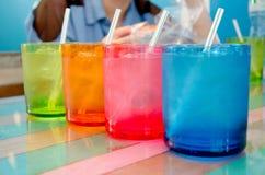 Glas kaltes Wasser Stockbilder