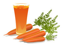 Glas Karottensaft Lizenzfreie Stockfotos