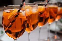 Glas klaar voor de partij royalty-vrije stock afbeeldingen