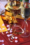 Glas klaar voor vakantie, Kerstmis, het samenkomen Stock Afbeeldingen