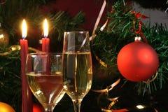 Glas klaar voor vakantie, Kerstmis, het samenkomen Stock Foto's