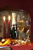 Glas klaar voor vakantie, Kerstmis, het samenkomen Royalty-vrije Stock Afbeeldingen
