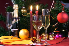 Glas klaar voor vakantie, Kerstmis, het samenkomen Stock Fotografie