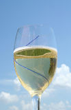 Glas koele witte wijn 3 royalty-vrije stock foto's