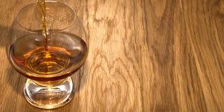 Glas Kognakwhisky lizenzfreies stockfoto