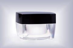 Glas kosmetische kruik Stock Afbeelding