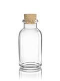 Glas lege fles met cork royalty-vrije illustratie