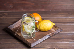 Glas Limonade Royalty-vrije Stock Foto's