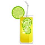Glas Limonade lizenzfreie abbildung