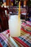 Glas limonade met ijs Stock Foto