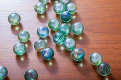 Glas marmeren ballen royalty-vrije stock afbeeldingen