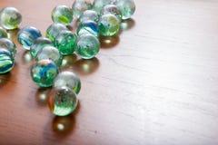 Glas marmeren ballen royalty-vrije stock foto