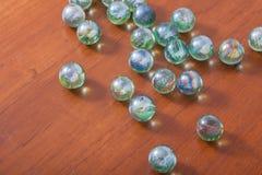 Glas marmeren ballen stock afbeelding