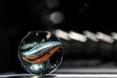 Glas marmeren macro Stock Afbeelding