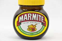 Glas Marmite stockfotografie