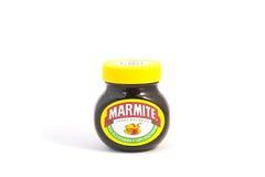 Glas Marmite Stockfoto