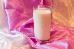 Glas melk Stock Foto's