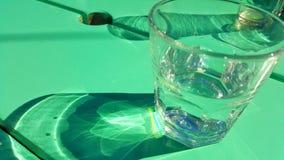 Glas met bezinning Royalty-vrije Stock Fotografie