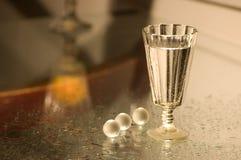 Glas met champagne Stock Afbeeldingen