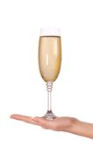 Glas met champagne Stock Afbeelding