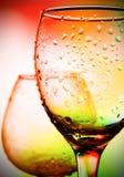 Glas met daling op het Royalty-vrije Stock Afbeeldingen