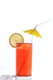 Glas met drank royalty-vrije stock afbeelding