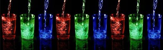 Glas met drank Stock Afbeeldingen