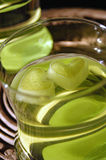 Glas met drank en ijs Stock Fotografie