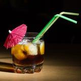 Glas met een drank Stock Foto's