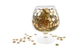 Glas met geld royalty-vrije stock foto