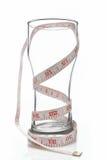 Glas met het meten van band Stock Foto's