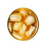 Glas met ijs Stock Afbeeldingen