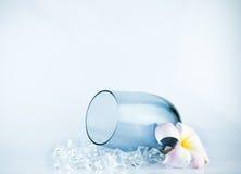 Glas met ijs. Royalty-vrije Stock Fotografie